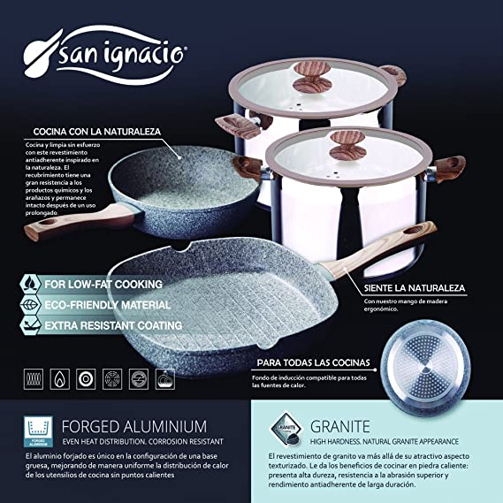 Amazon.com: Granito by Bergner Home Premium Forged Aluminum & Granite 11 Inch Frying Pan with Full Induction: Kitchen & Dining