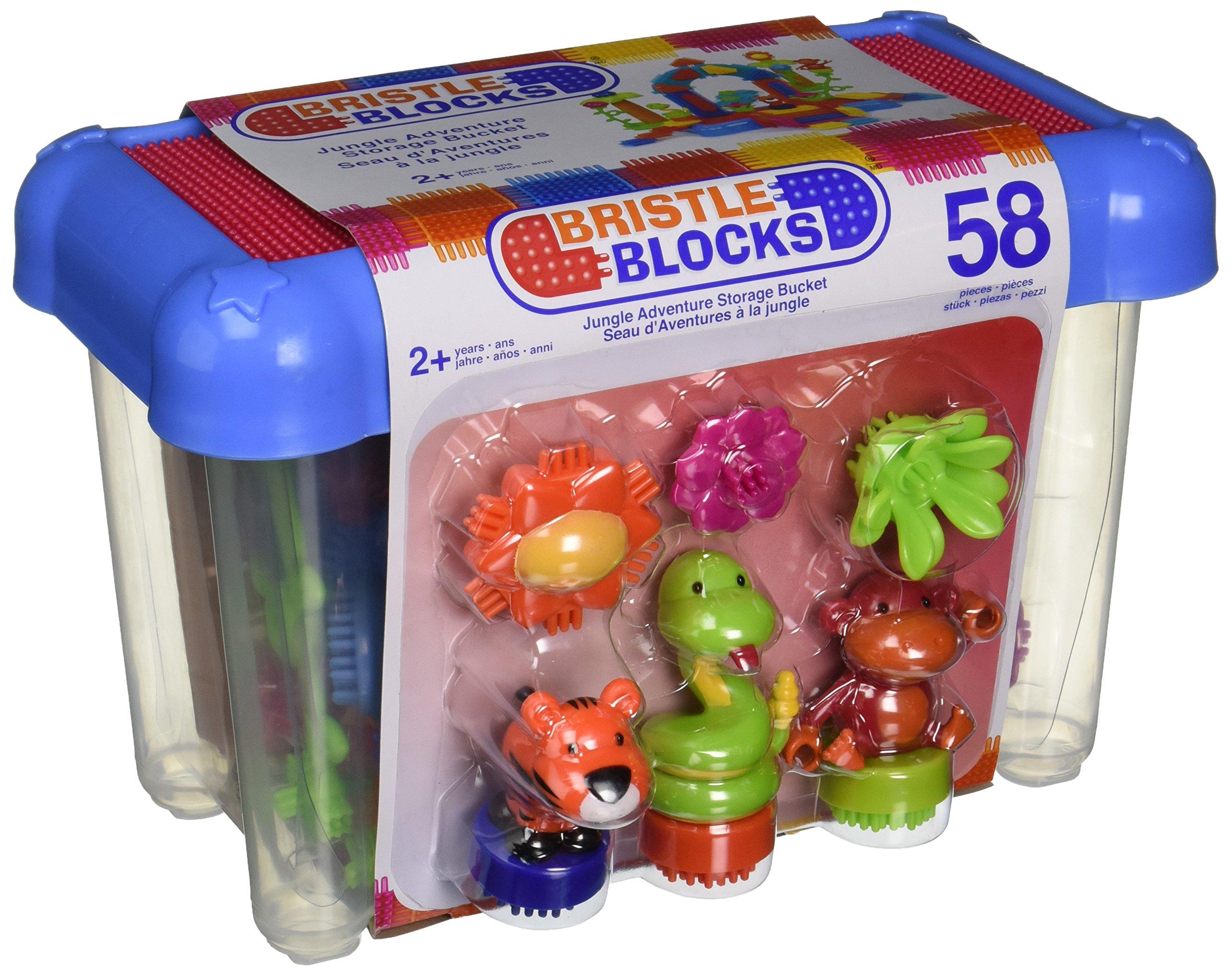 Battat Jungle Bristle Blocks Bucket Building Kit