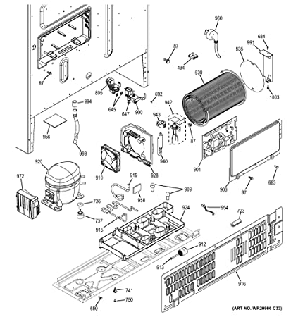 Amazon.com: Ge WR87X20937 Refrigerator Compressor Kit ... on