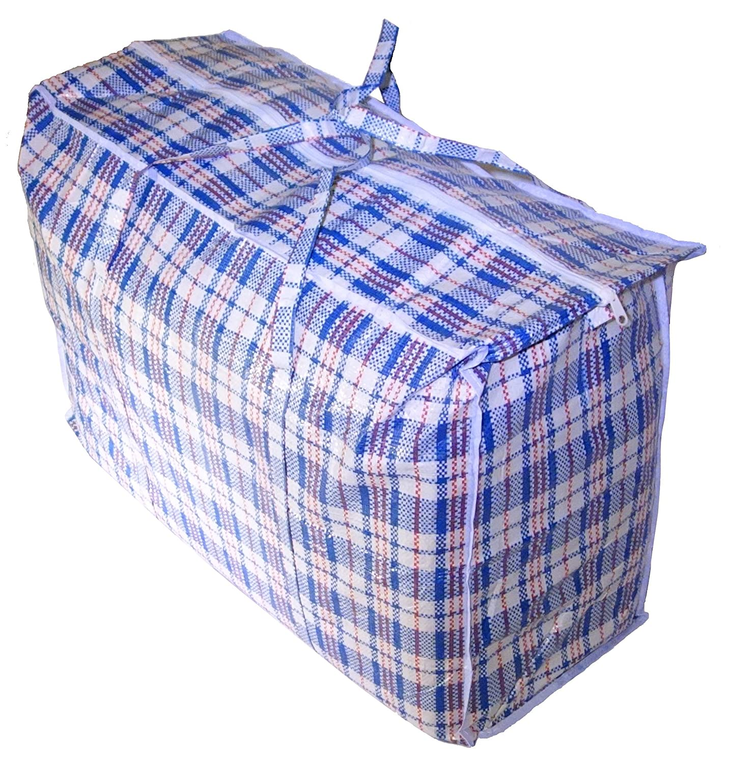 Amazon.com: Jumbo Plastic Checkered Storage Laundry Shopping Bags ...