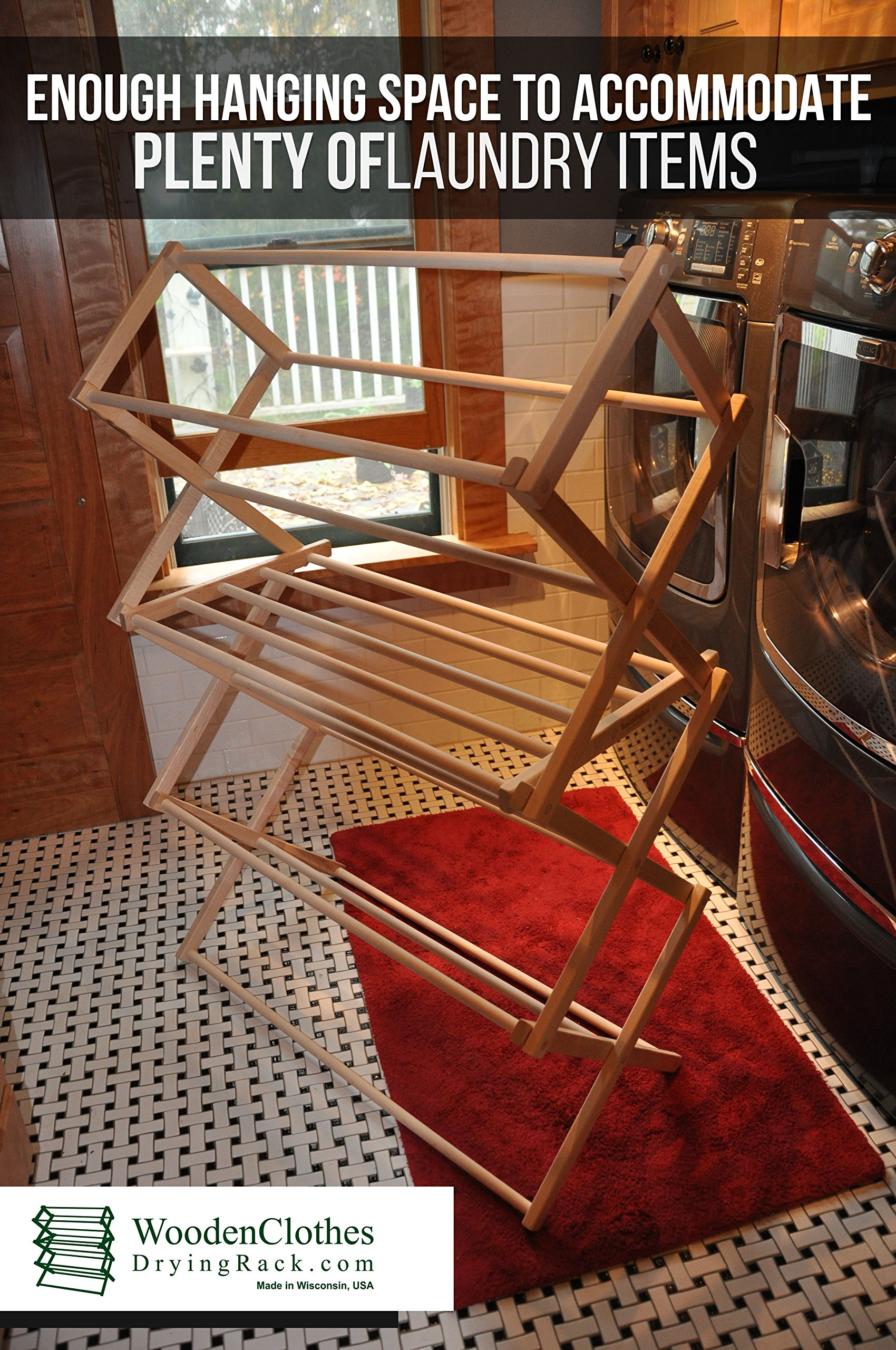 Medium Wooden Clothes Drying Rack by Benson Wood Products by Benson Wood Products (Image #4)