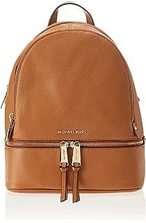 Michael Kors - Rhea Zip Medium Backpack, Bolsos mochila Mujer, Marrón (Acorn)