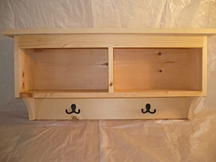Delicieux Handcrafted Solid Pine Coat Rack With 2 Storage Cubes. This Heavy Duty  Shelf And Coat