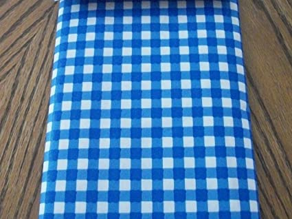 Superbe Blue And White Checkered 52 X 70 Inch Vinyl Tablecloth