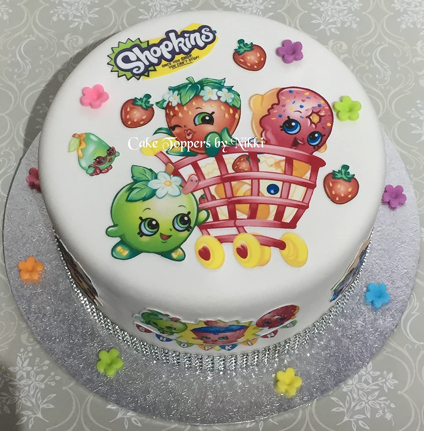 edible cake decorations shopkins cake images 3819
