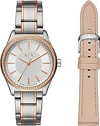 e3996e336fb3 Armani Exchange Damen Analog Quarz Uhr mit Edelstahl Armband AX7103