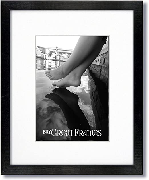Single White Mats for 11x14. Glass Set of 2-16x20 Black Wood Picture Frames