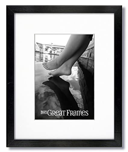 Amazon.com - One 16x20 Black Wood Picture Frames and Clear Glass ...