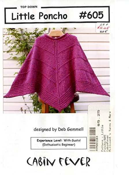 Amazon Little Poncho Cabin Fever Knitting Pattern 605 Arts