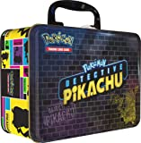 Pokemon TCG: Detective Pikachu Collector Treasure Chest | 9 Booster Pack | A Collector's Pin | A Notepad & Sticker Sheet