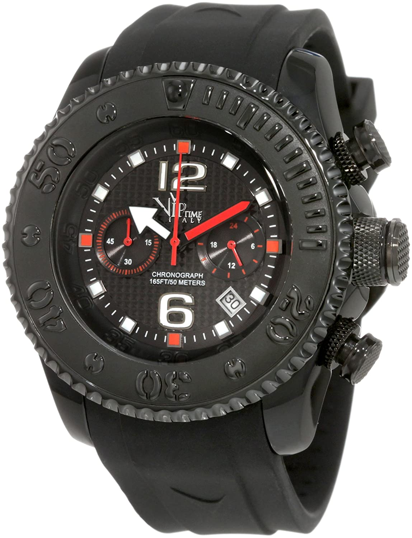 Vip Time Italy Herren VP5051BK Free Style Sporty Chronograph Uhr