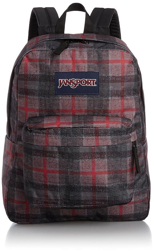 Amazon Jansport Superbreak Backpack Red Tape Knit Plaid