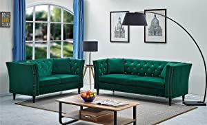 Container Furniture Direct Arielle Sofas, Green