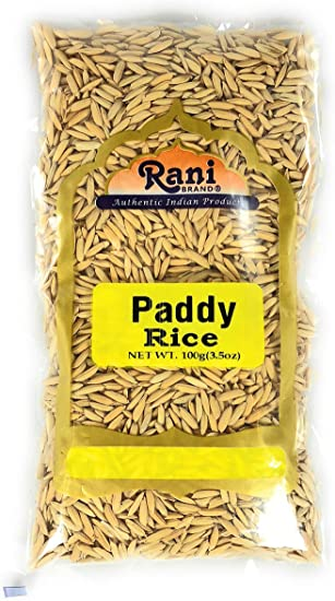 Rani Paddy Rice Raw Unfinished Rice 3 5oz 100g All Natural Amazon Co Uk Grocery