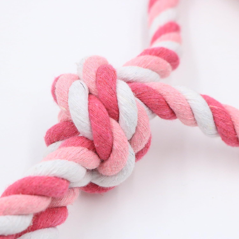 AmoreDiPET Cuerda de Juguete para Perro con Pelota para Perros Peque/ños y medianos