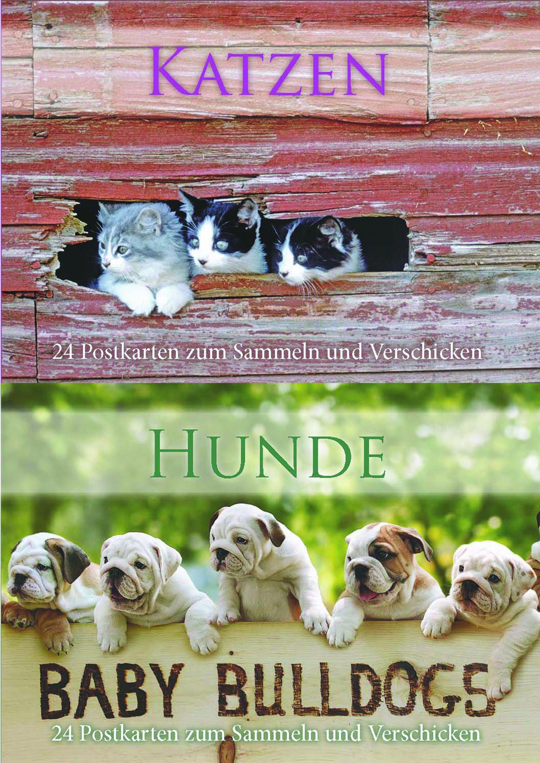 Postkartenbuch Katzen/Hunde