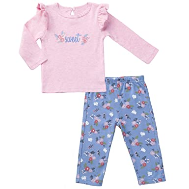 Clothing, Shoes & Accessories Baby & Toddler Clothing Baby Girls 9-12 Months Top And Legging Bundle Fine Workmanship