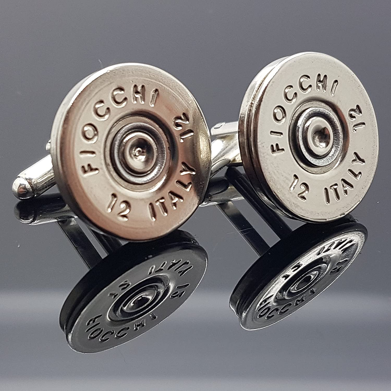 Silver gold Fiocchi Shotgun Cufflinks Slim Fit