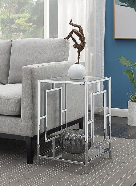 Amazon.com: Convenience Concepts 135045 End Table, Clear Glass ...