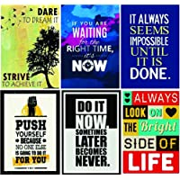 Paper Plane Design Inspirational Posters (Paper, 30.48 cm X 0.65 cm X 45.72 cm, Multicolour, Set of 6, Posters_2018_Design: 58Single)