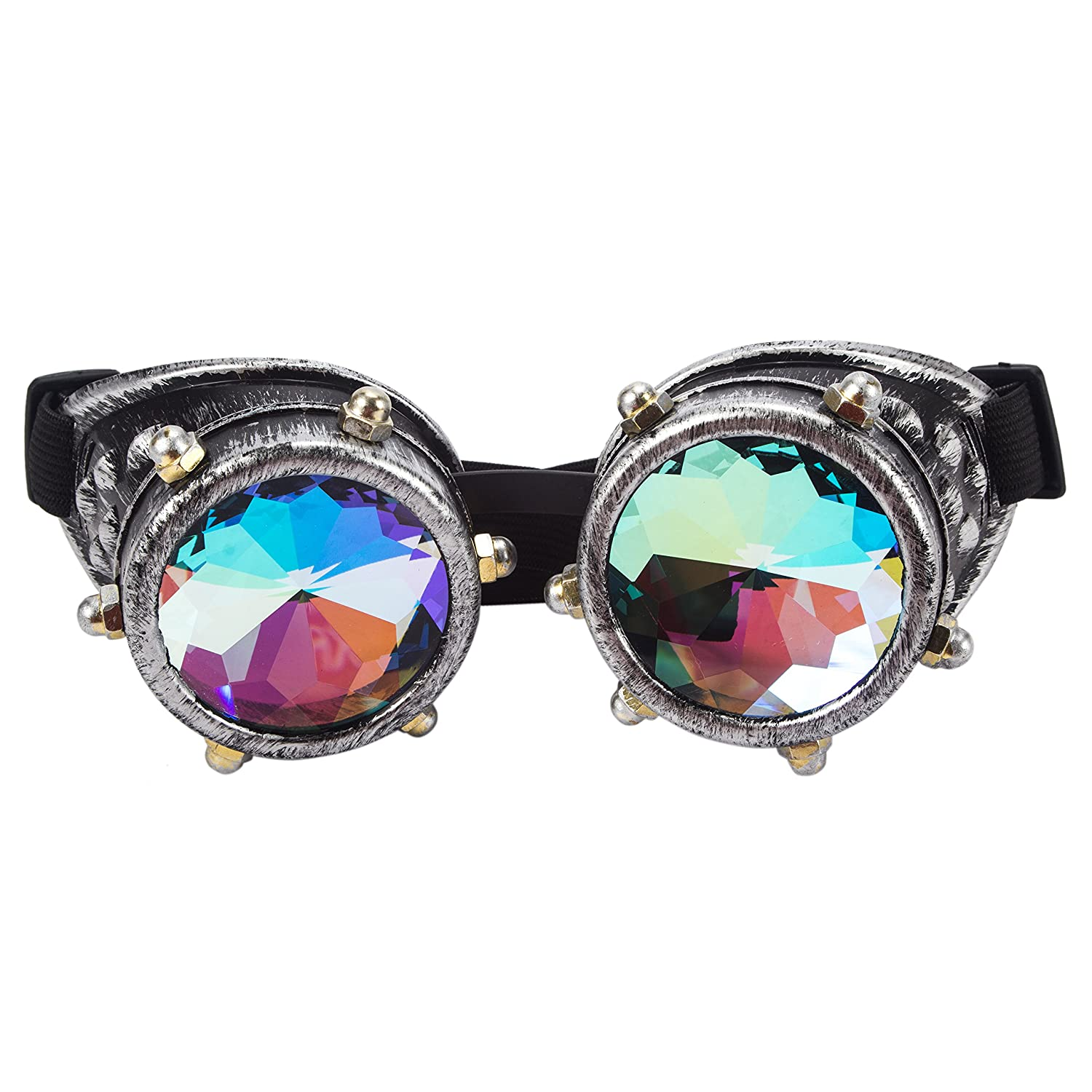 OMG/_Shop Kaleidoscope Glasses Rainbow Rave Steampunk Glasses Carnival Party
