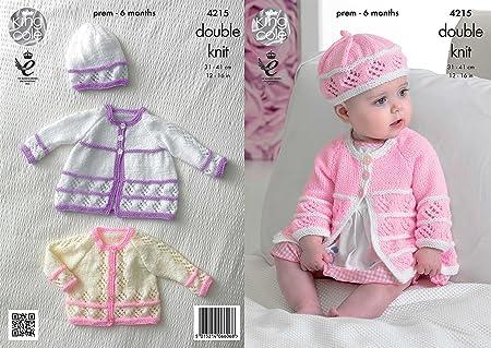 1ac9449e0 King Cole 4215 Knitting Pattern Baby Matinee Coats Cardigan Bert and ...