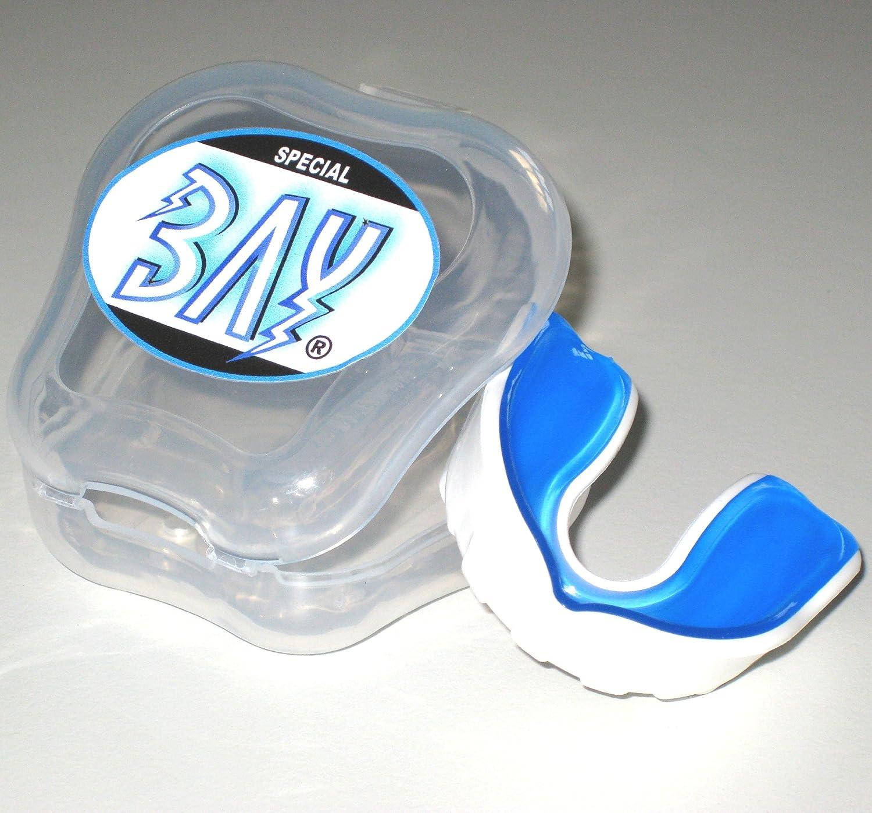 BAY® PRO LINE KINDER CE - MMA - ZAHNSCHUTZ ---- weiß mit belüfteter BOX, Sport Mundschutz, Zahnschützer, Mundschützer, KIDS JR Junior Zahnschützer Mundschützer 4260264058353