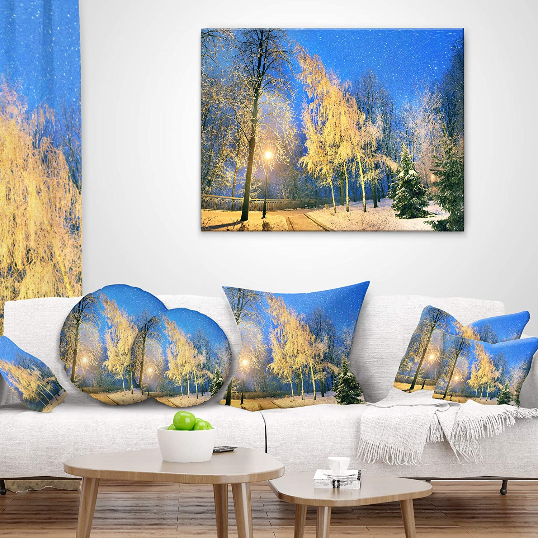 Designart CU9174-16-16-C Bent Trees Mariinsky Garden Landscape Photography Round Cushion Cover for Living Room Sofa Throw Pillow 16
