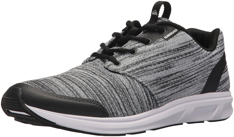 Quiksilver Men's Voyage Textile Sneaker 9 D(M) US|Black/Grey/White