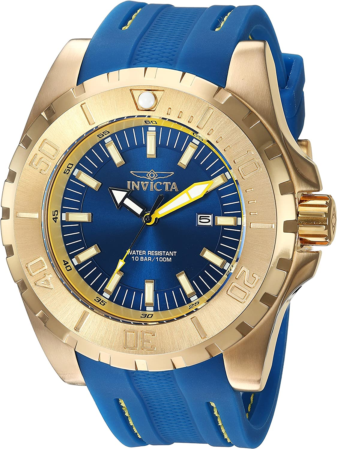 B01NCBCEIG Invicta Men\'s Pro Diver Stainless Steel Quartz Watch with Polyurethane Strap, Blue, 26 (Model: 23736) 91D03aw9lNL.UL1500_