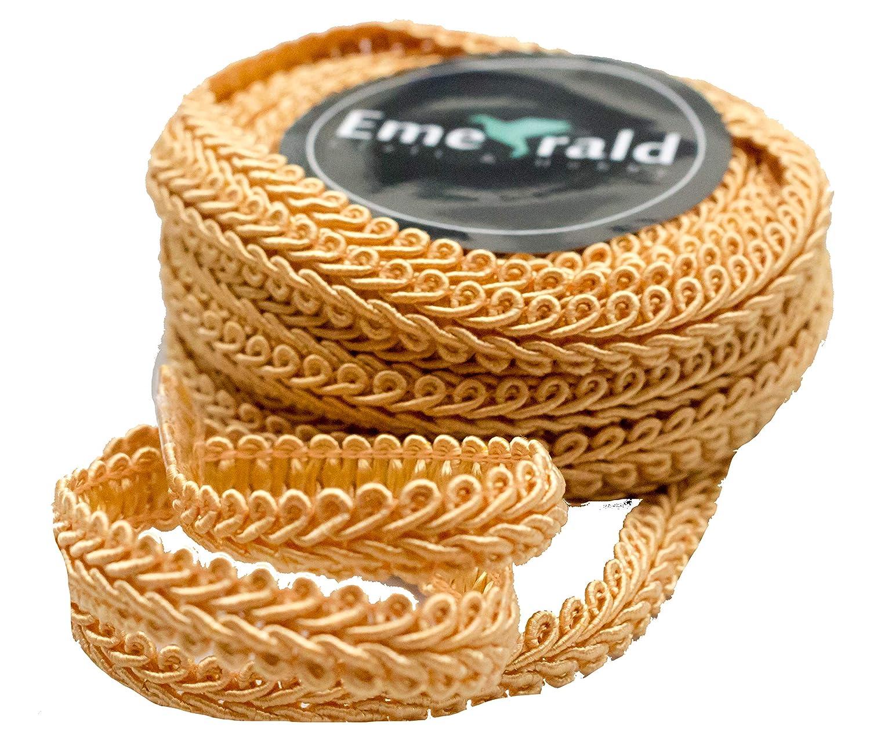 Gimp Braid Woven Ornamental Trim 5//8 Inch, Red 10 Yards