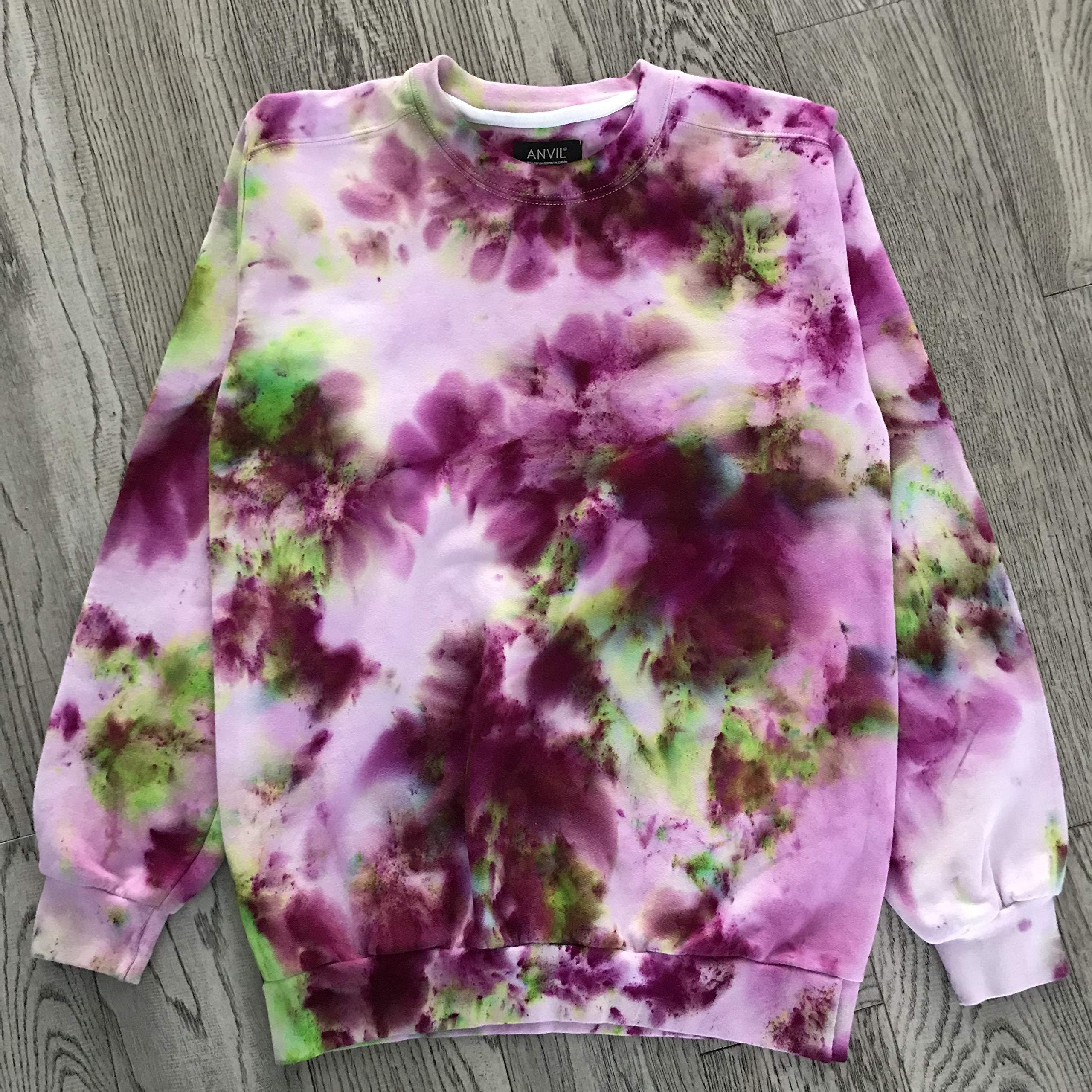 Flower Grunge Unisex Sweatshirt by Masha Apparel