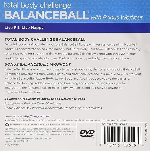 Amazon Total Body Challenge BalanceBall Bonus Workout Movies TV