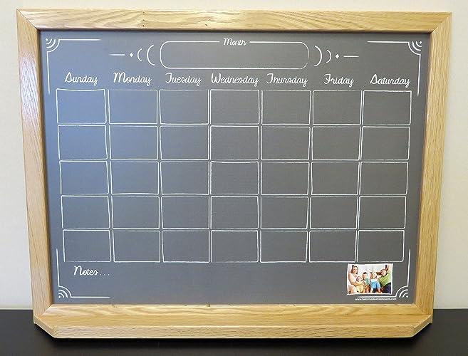 black chalkboard calendar framed white board wall calendar dry erase framed