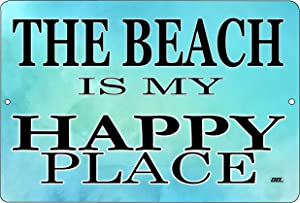 Rogue River Tactical Ocean Waves Metal Tin Sign Wall Decor Bar Beach Happy Place Shoreline Coastal