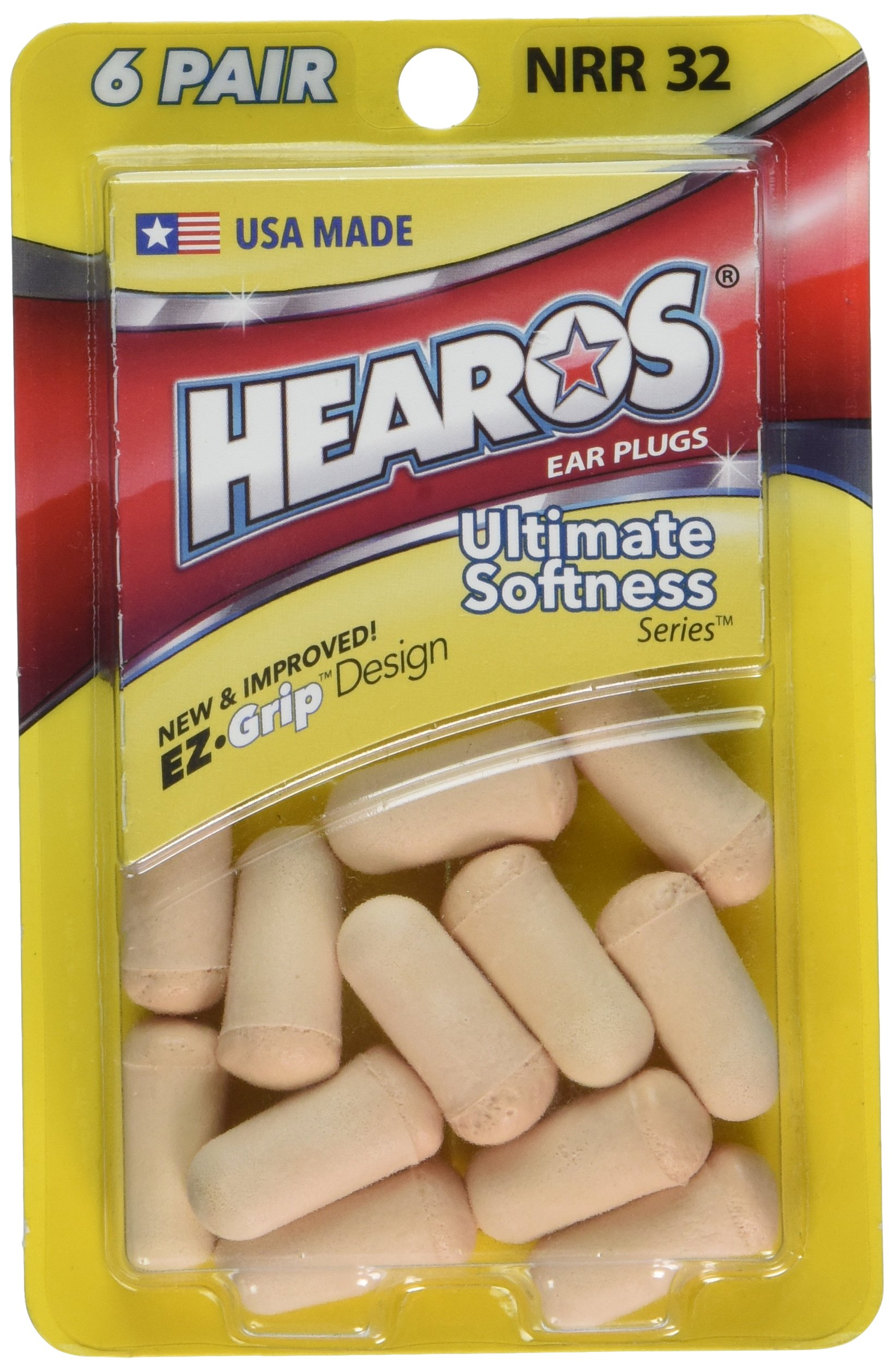 Hearos Ear Plugs Ultimate Softness Series, 6 Count
