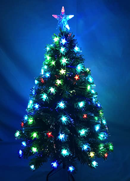 Christmas Concepts® 48 Inch (4FT) Green LED Fibre Optic Christmas Tree With  Colour - Christmas Concepts® 48 Inch (4FT) Green LED Fibre Optic Christmas