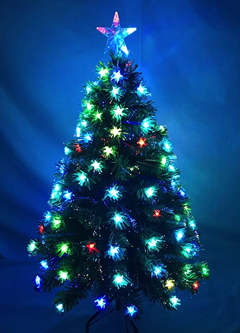 Christmas Concepts 48 Inch (4FT) Green LED Fibre Optic Christmas Tree with  Colour Changing - Amazon.com: Christmas Concepts 48 Inch (4FT) Green LED Fibre Optic