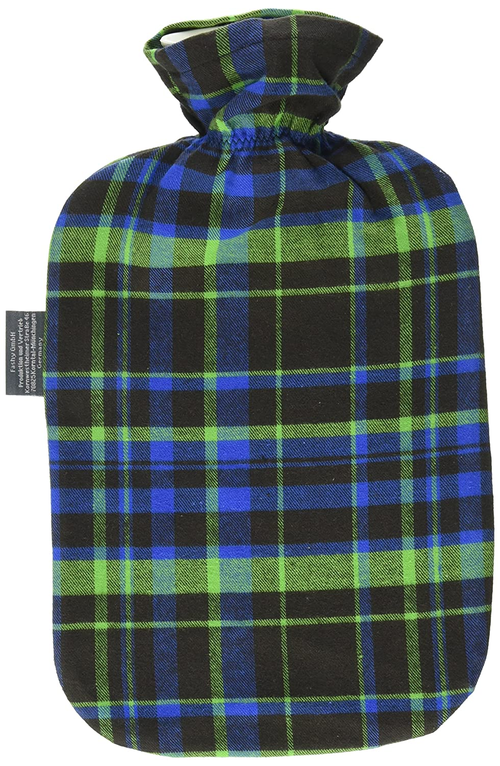 Fashy Hot Water Bottle with Tartan Cover
