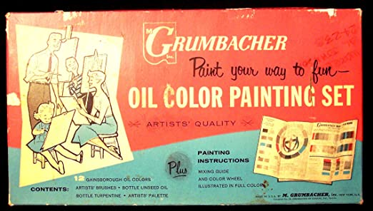 Amazon Grumbacher Oil Color Painting Set 321 Artists Retro
