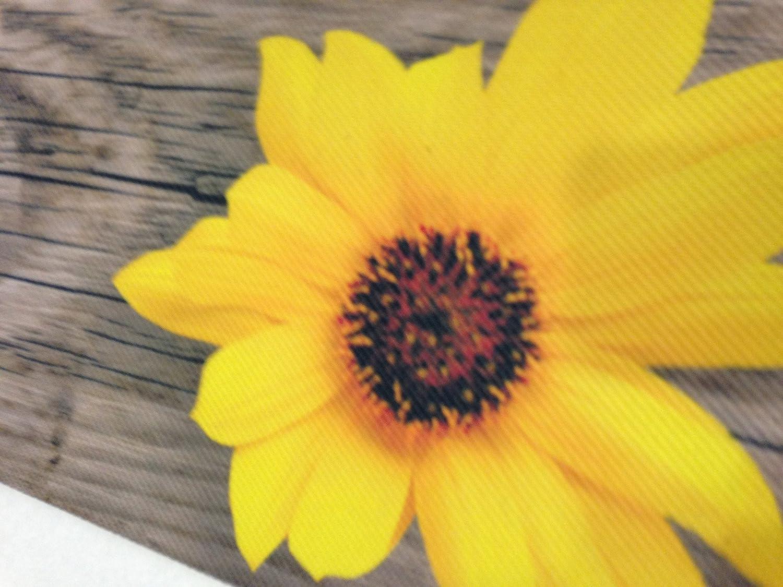 Teppich / Läufer, für Küche, Sonnenblumen-Holz-Motiv ...