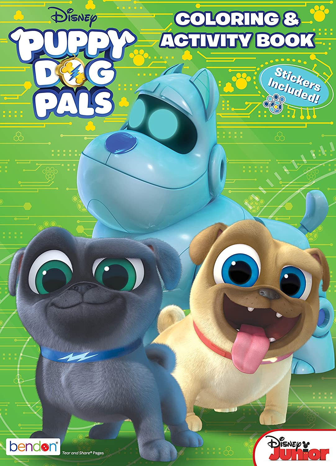 bendon 42318 puppy dog pals 32 page activity book with stickers