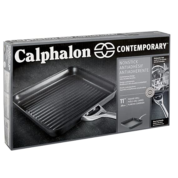 Calphalon Contemporary Nonstick 11-Inch Square Grill Pan: Amazon.es: Hogar