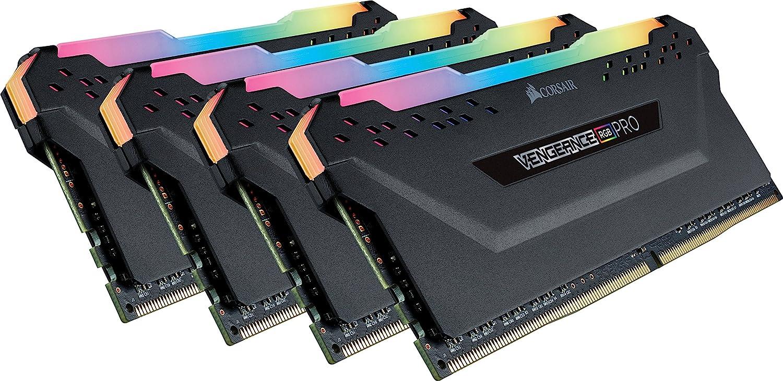 Corsair Vengeance RGB Pro 32GB (4x8GB) DDR4 3200MHz C16 LED Desktop Memory - Black
