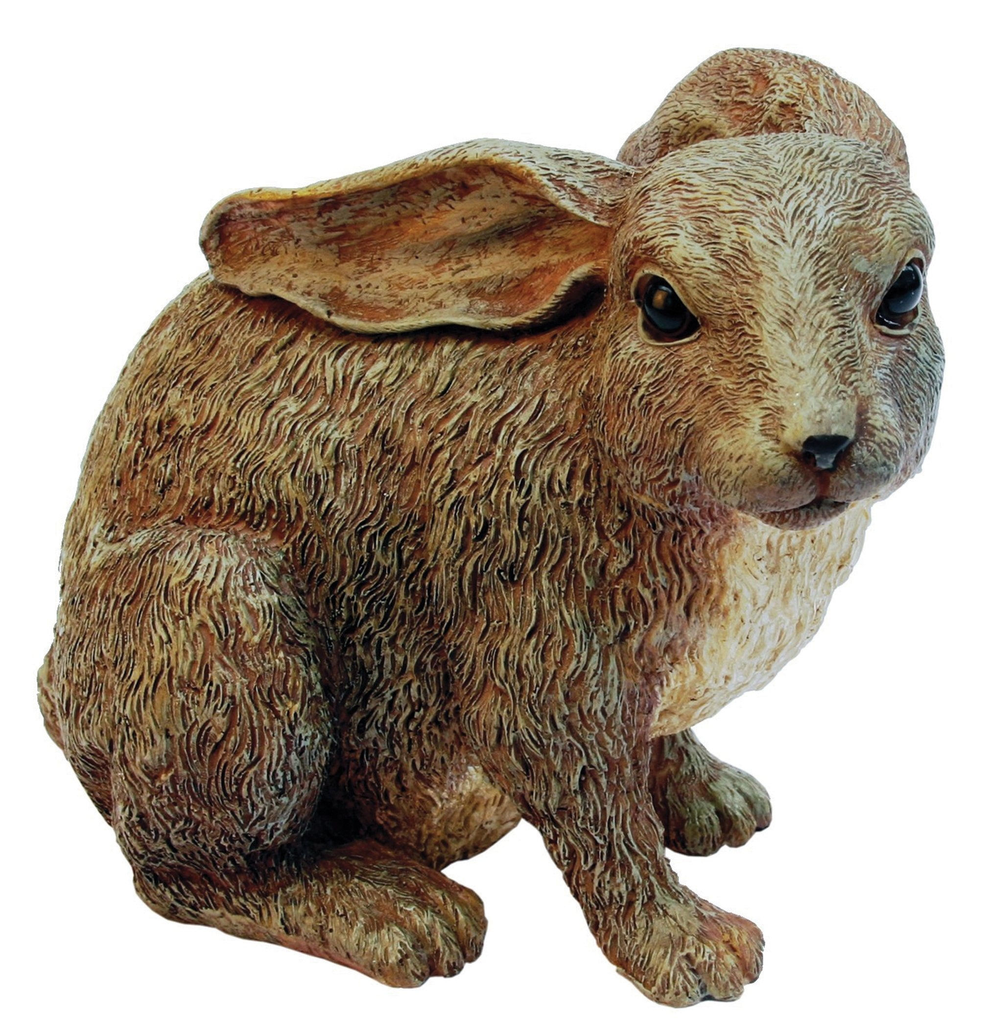 Junior Rabbit Brown Rabbit Family by Michael Carr Designs - Outdoor Rabbit Figurine for gardens, patios and lawns (507012BGY)