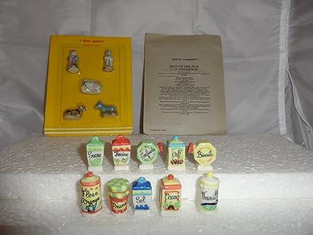 Lote de 10 sorpresas para roscón de Reyes, colección Les Pots de Cuisine con 5 figuritas