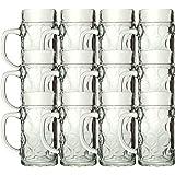 12er Set Isar Bierkrüge 0,5L Glas geeicht Bierkrug