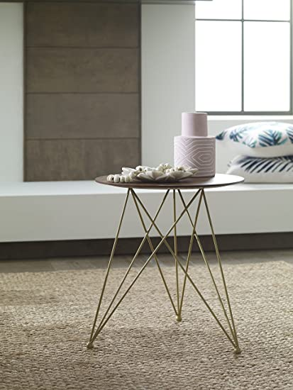 Amazon Elle Decor Livvy Side Table Sienna And Gold Kitchen Fascinating Abf Furniture Decor