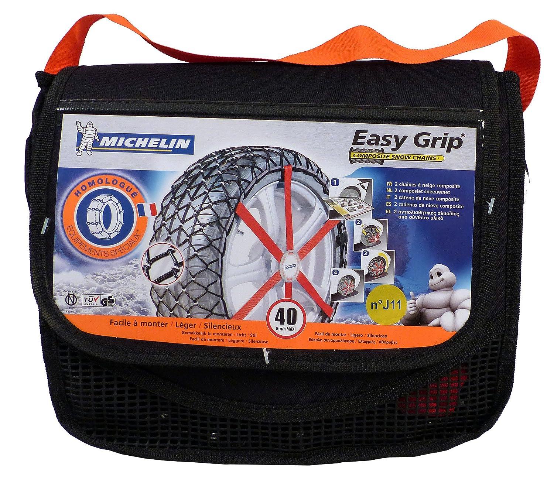 certifi/ées T/ÜV//GS et /ÖNORM Michelin 92306 Chaussettes /à neige Easy Grip S11 2 pi/èces compatibles ABS et ESP