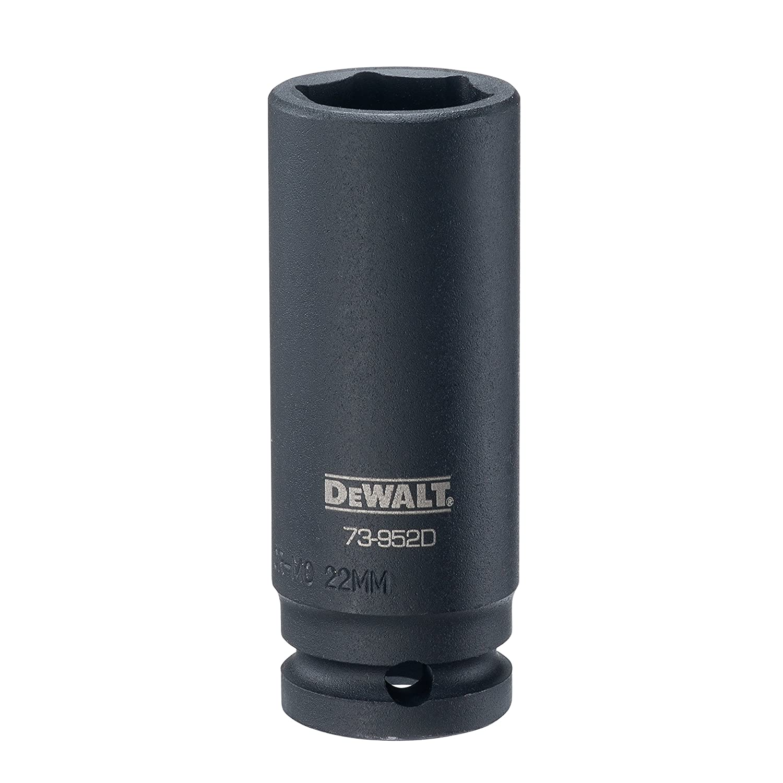 DEWALT 1/2' Drive Impact Socket Deep 6 PT 22MM DWMT73952B